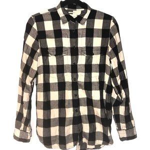 Ralph Lauren Button Down Shirt Black Plaid Medium